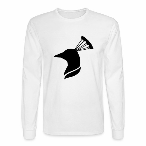 peacock head - Men's Long Sleeve T-Shirt