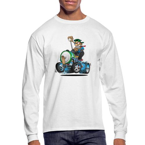 Hot Rod Electric Car Cartoon - Men's Long Sleeve T-Shirt