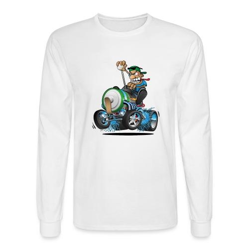 Hot Rod Electric Car Cartoon - Men's Long Sleeve T-Shirt