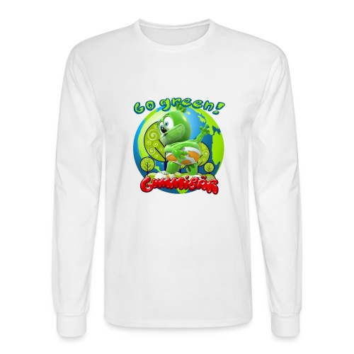 Gummibär Go Green Earth Day Earth - Men's Long Sleeve T-Shirt