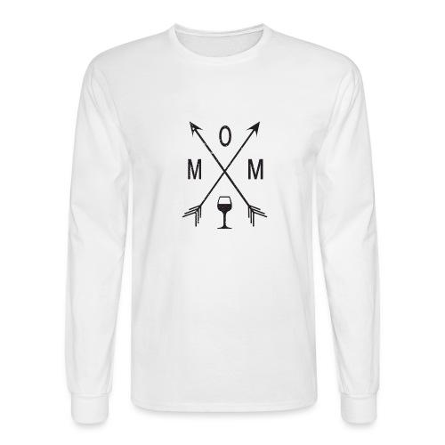 Mom Loves Wine (black ink) - Men's Long Sleeve T-Shirt