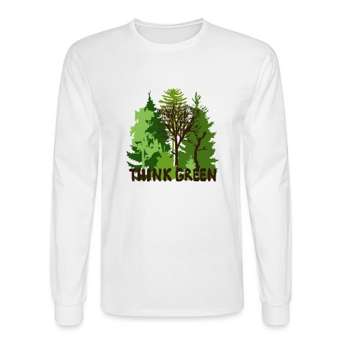 EARTHDAYCONTEST Earth Day Think Green forest trees - Men's Long Sleeve T-Shirt