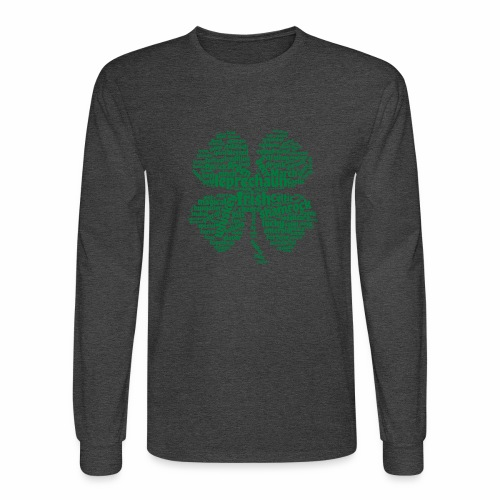 Shamrock Word Cloud - Men's Long Sleeve T-Shirt