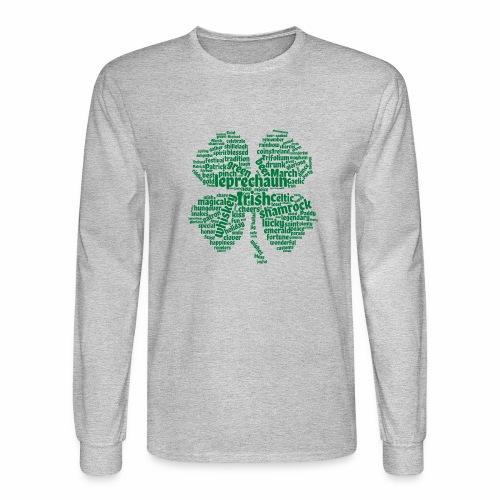 Shamrock Word Cloud - Men's Long Sleeve T-Shirt