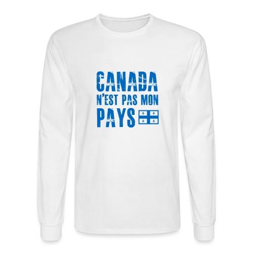 Canada pas mon pays - Men's Long Sleeve T-Shirt