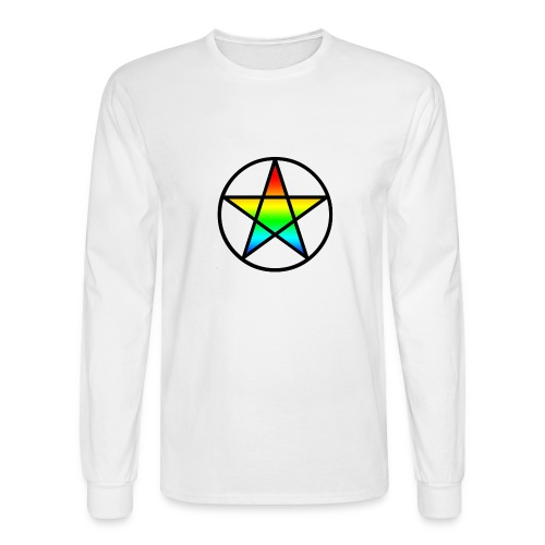 Official Iridescent Tee-Shirt // Men's // White - Men's Long Sleeve T-Shirt