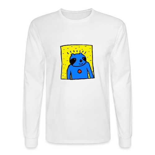 Sloth Portrait Tee - Men's Long Sleeve T-Shirt