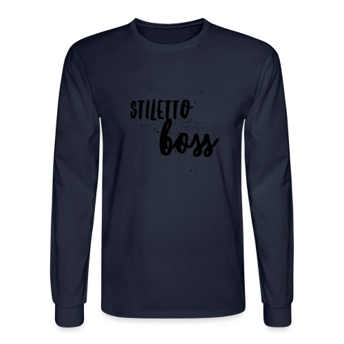 StilettoBoss Low-Blk - Men's Long Sleeve T-Shirt