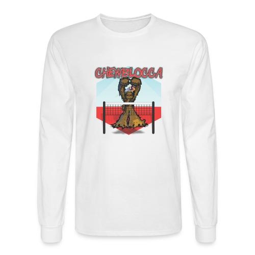 Chewblocca Volleyball Team Logo - Men's Long Sleeve T-Shirt