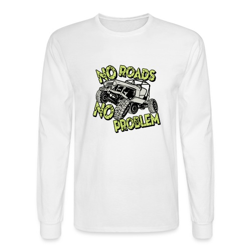 Jeep No Roads No Problem - Men's Long Sleeve T-Shirt