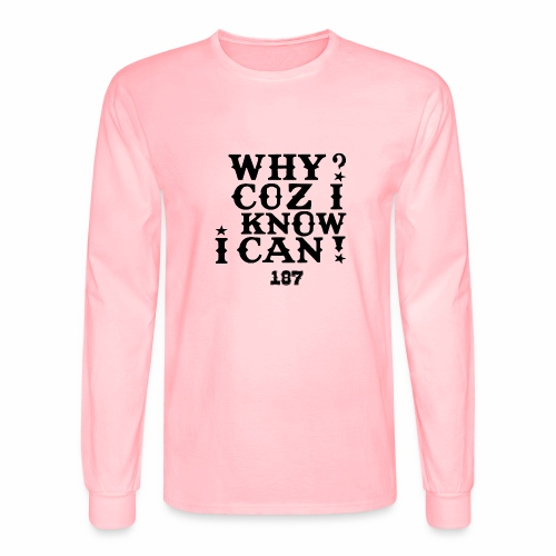 Kids and Babies Positive Affirmation Logo 187 Gear - Men's Long Sleeve T-Shirt