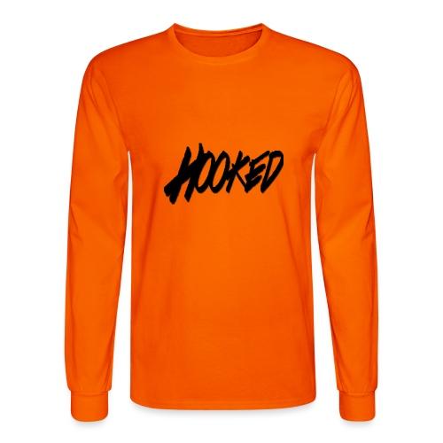 Hooked black logo - Men's Long Sleeve T-Shirt