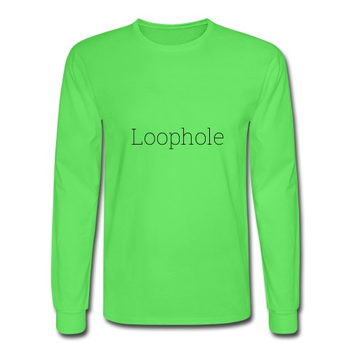 Loophole Abstract Design - Men's Long Sleeve T-Shirt