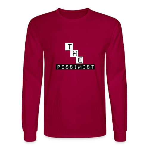 The Pessimist Abstract Design - Men's Long Sleeve T-Shirt