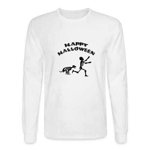 Halloween Boy and Dog - Men's Long Sleeve T-Shirt