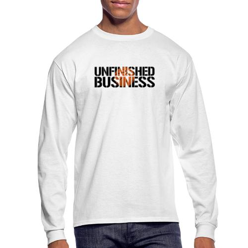 Unfinished Business hoops basketball - Men's Long Sleeve T-Shirt