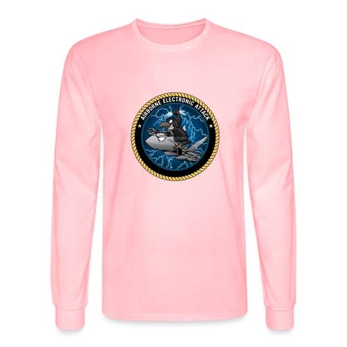 Airborne Electronic Attack EA-18 Growler Cartoon - Men's Long Sleeve T-Shirt