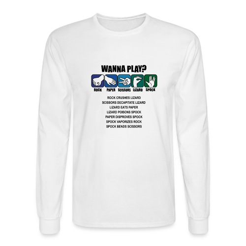 rock paper scissors lizard spock shirt - Men's Long Sleeve T-Shirt