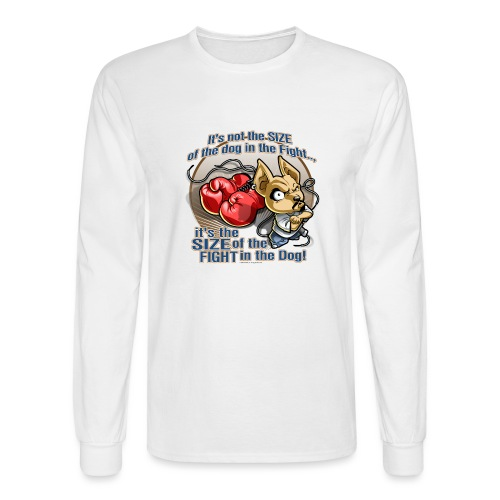 Dog in fight by RollinLow - Men's Long Sleeve T-Shirt