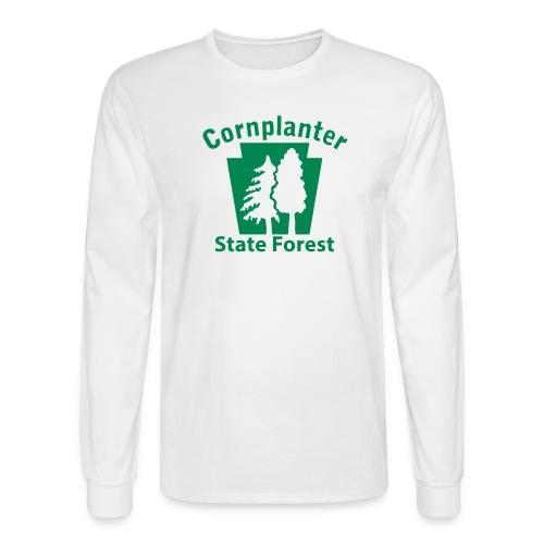 Cornplanter State Forest Keystone (w/trees) - Men's Long Sleeve T-Shirt