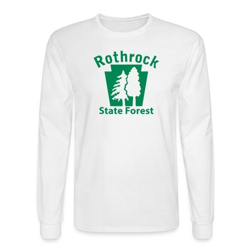 Rothrock State Forest Keystone (w/trees) - Men's Long Sleeve T-Shirt