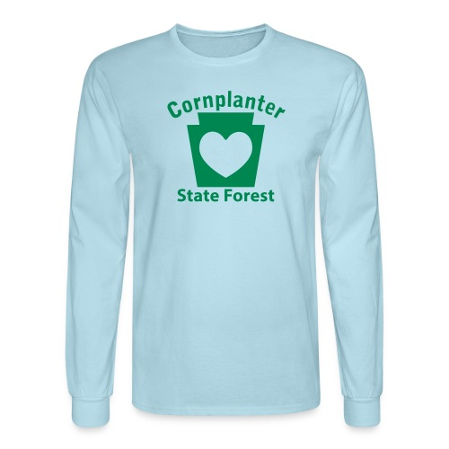 Cornplanter State Forest Keystone Heart - Men's Long Sleeve T-Shirt