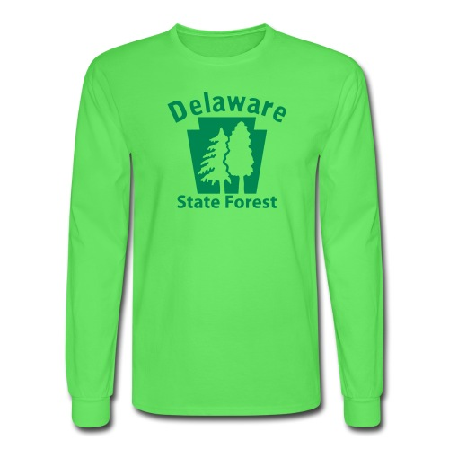 Delaware State Forest Keystone (w/trees) - Men's Long Sleeve T-Shirt