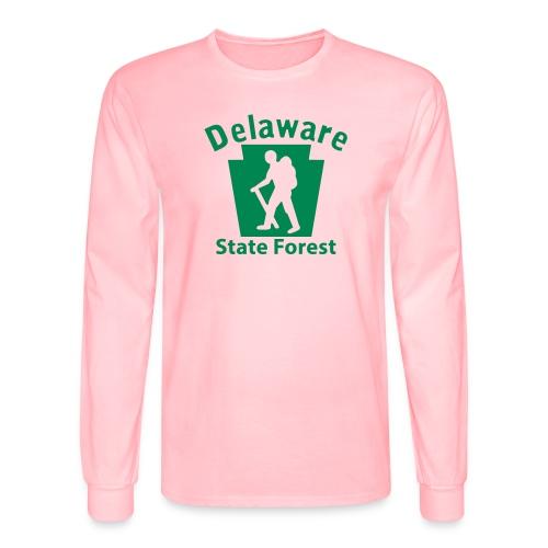 Delaware State Forest Keystone Hiker male - Men's Long Sleeve T-Shirt
