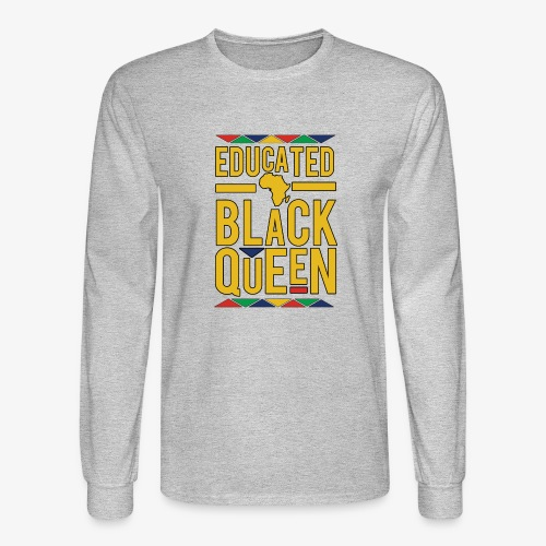 Dashiki Educated BLACK Queen - Men's Long Sleeve T-Shirt