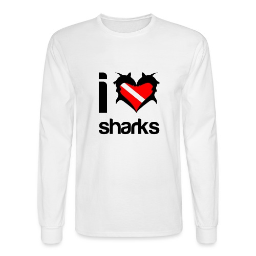 I Love Sharks - Men's Long Sleeve T-Shirt