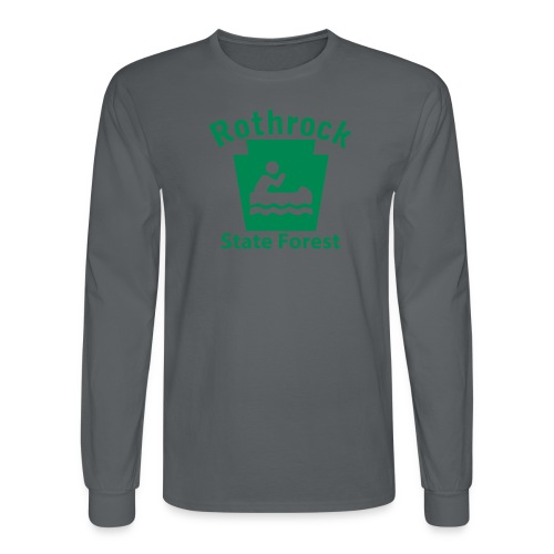 Rothrock State Forest Boating Keystone PA - Men's Long Sleeve T-Shirt