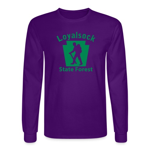 Loyalsock State Forest Keystone Hiker male - Men's Long Sleeve T-Shirt