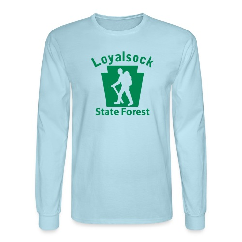 Loyalsock State Forest Keystone Hiker male - Men's Long Sleeve T-Shirt