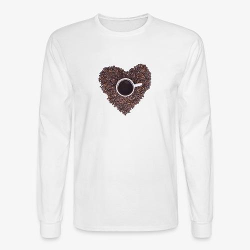 I Heart Coffee Black/White Mug - Men's Long Sleeve T-Shirt