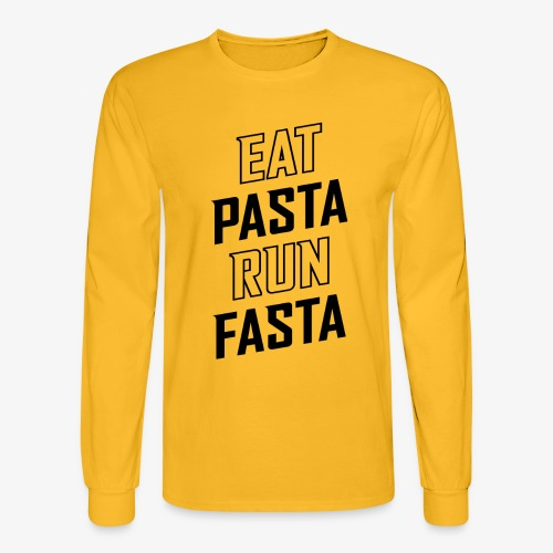 Eat Pasta Run Fasta v2 - Men's Long Sleeve T-Shirt