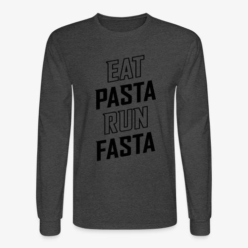 Eat Pasta Run Fasta v2 - Men's Long Sleeve T-Shirt