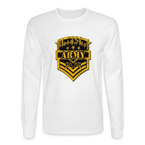 BloodShot ARMYLogo Gold /Black - Men's Long Sleeve T-Shirt