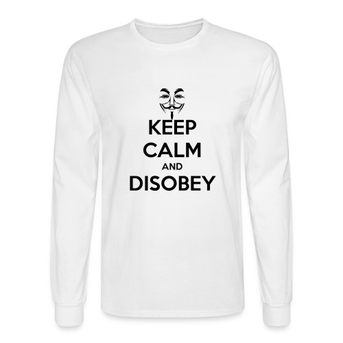 Anonymous Keep Calm And Disobey Thick - Men's Long Sleeve T-Shirt