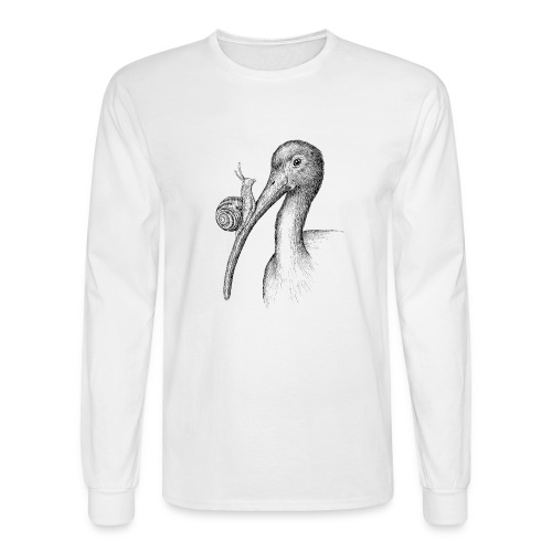 Ibis with Snail by Imoya Design - Men's Long Sleeve T-Shirt