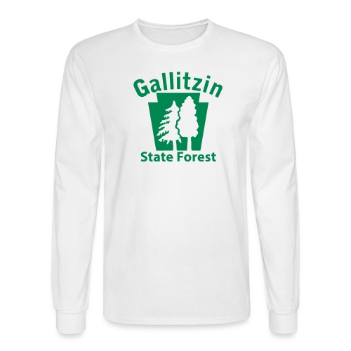Gallitzin State Forest Keystone (w/trees) - Men's Long Sleeve T-Shirt