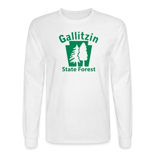 Gallitzin State Forest Keystone (w/trees) - Men's Long Sleeve T-Shirt