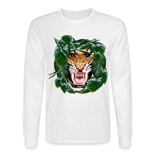 Tiger thru the leaves - Men's Long Sleeve T-Shirt