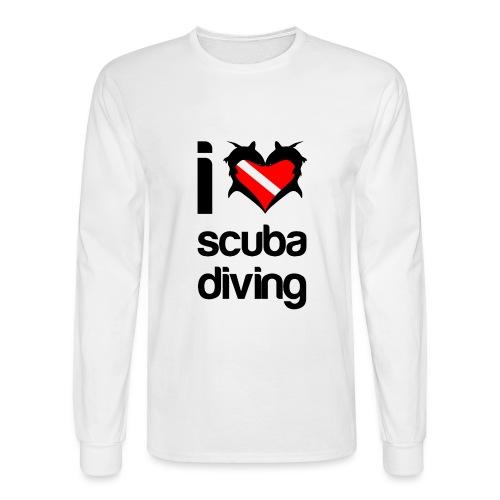 I Love Scuba Diving - Men's Long Sleeve T-Shirt