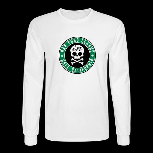 Bar Pong Badge Logo - Men's Long Sleeve T-Shirt