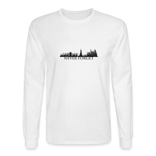 New York: Never Forget - Men's Long Sleeve T-Shirt