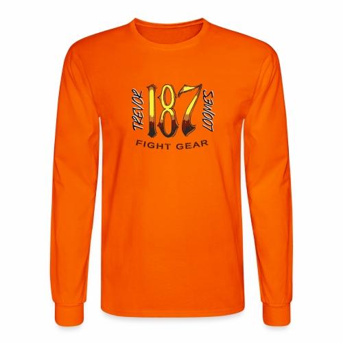 Coloured Trevor Loomes 187 Fight Gear Logo - Men's Long Sleeve T-Shirt