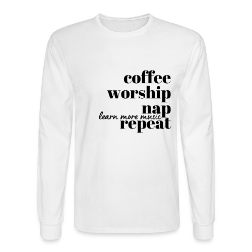 Coffee Worship Nap Tee - Men's Long Sleeve T-Shirt
