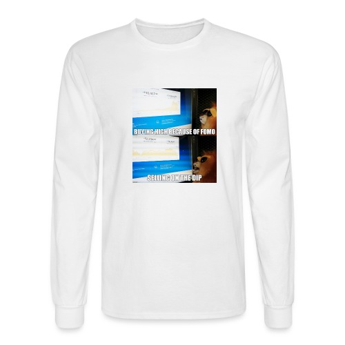 Crypto Lion Buying High and Selling Low - Men's Long Sleeve T-Shirt