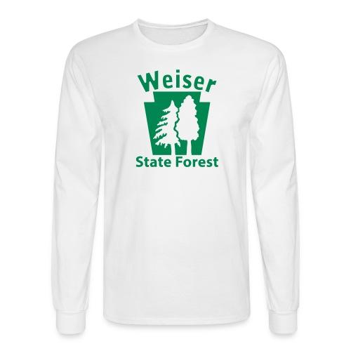 Weiser State Forest Keystone (w/trees) - Men's Long Sleeve T-Shirt