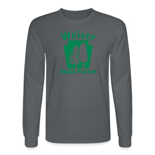 Weiser State Forest Keystone (w/trees) - Men's Long Sleeve T-Shirt